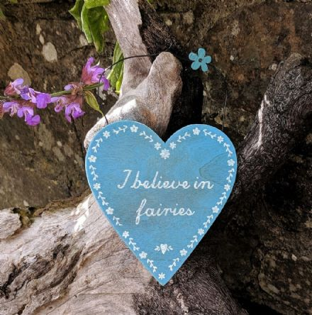 40% OFF I believe in Fairies wooden heart